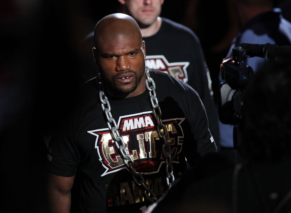 Rampage Jackson enters the ring