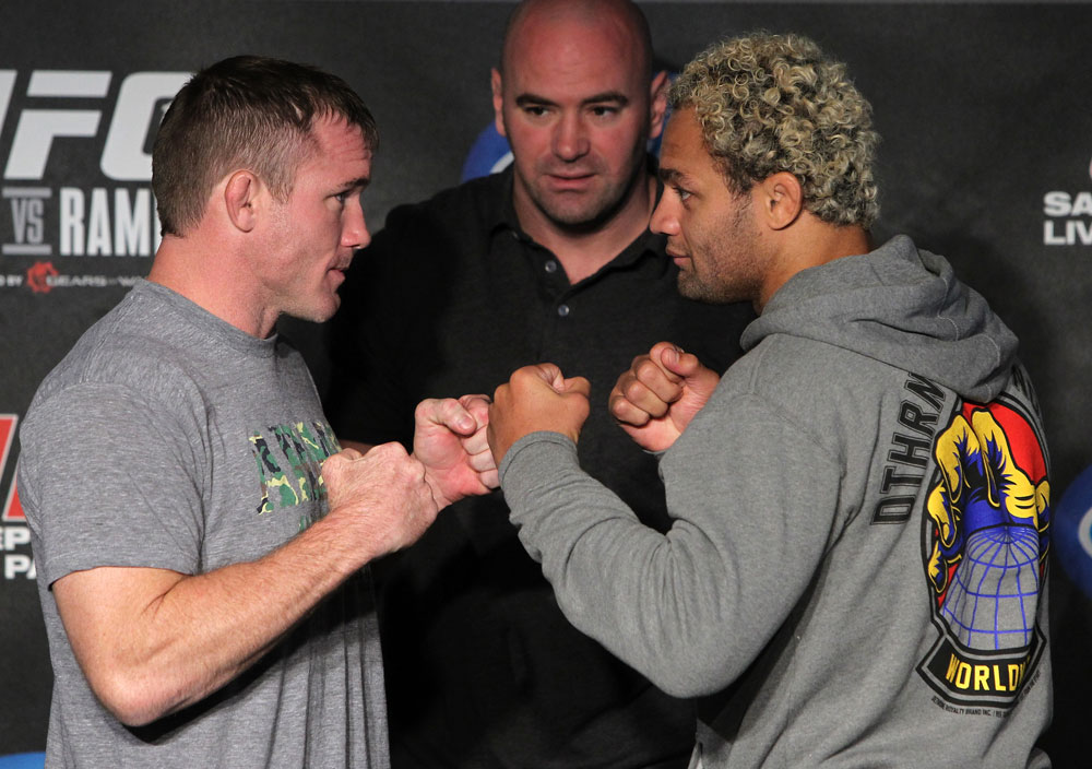 Matt Hughes faces off with Josh Koscheck