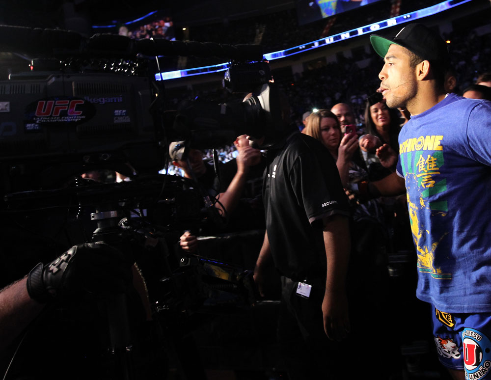 Jose Aldo enters the arena