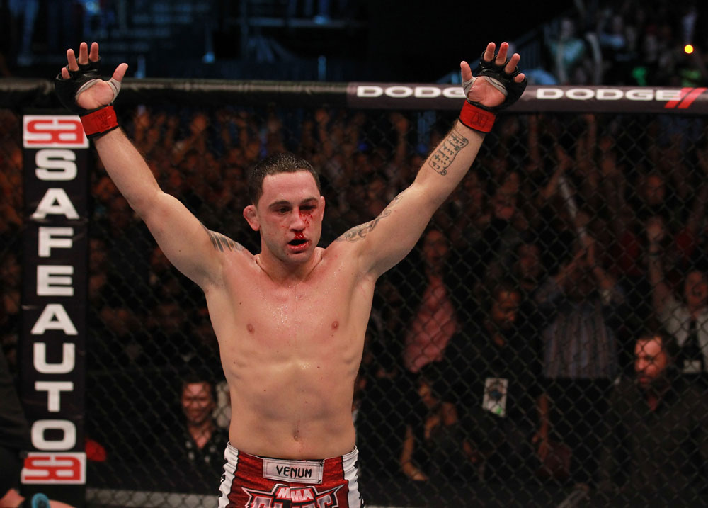 Frankie Edgar after his win over Gray Maynard
