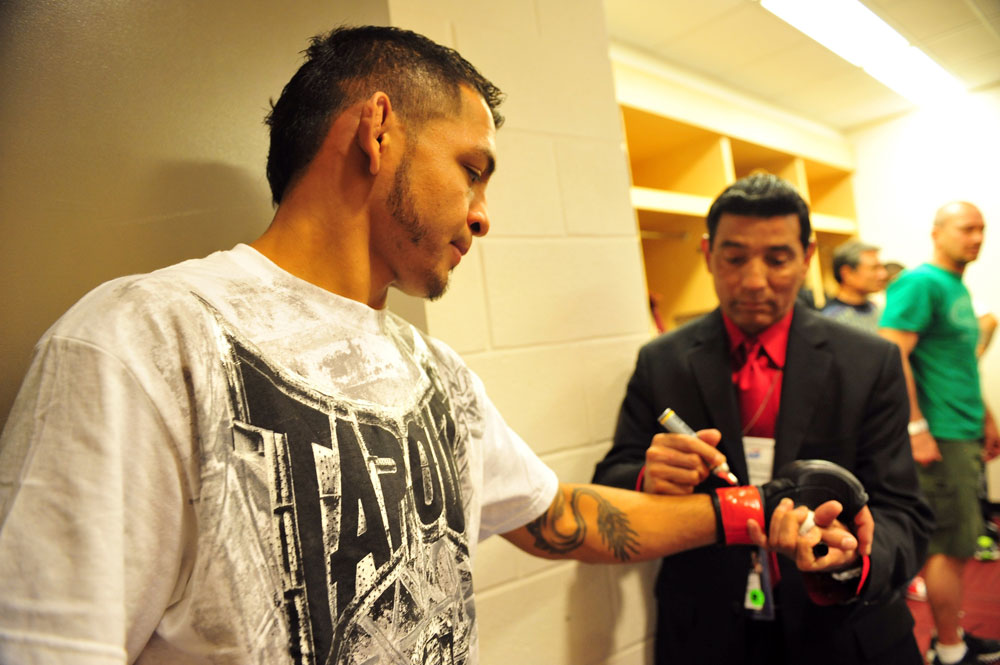 Leonard Garcia before his fight