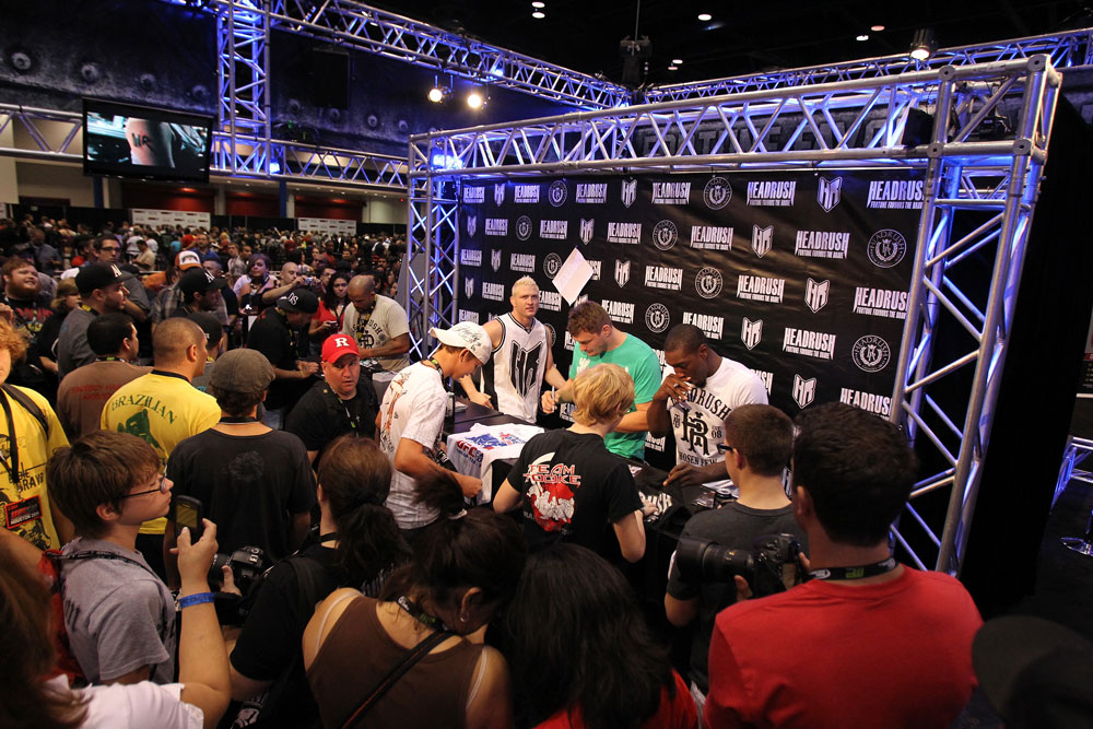 Autograph signings with (L-R) Joey Beltran, Jason &quot;Mayhem&quot; Miller, Matt Mitrione and Phil Davis