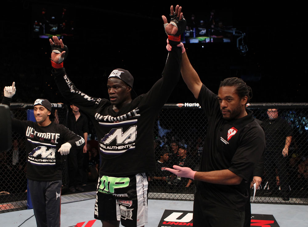 Cheick Kongo after his win over Matt Mitirone