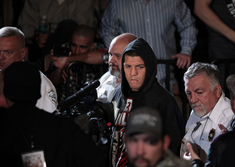 Nick Diaz enters the arena