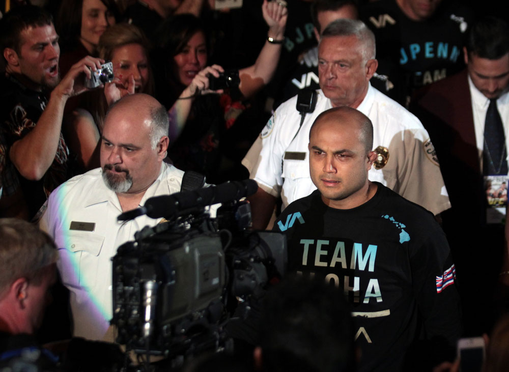 BJ Penn enters the arena