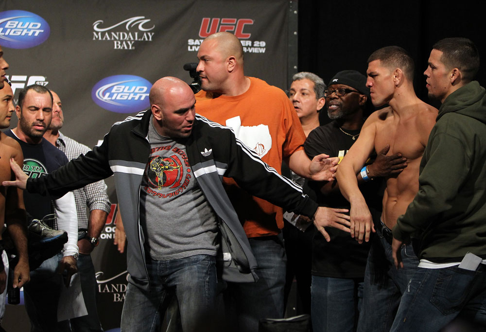 UFC President Dana White separates BJ Penn and Nick Diaz