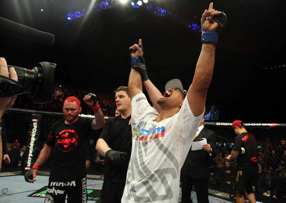 Mark Munoz after his win