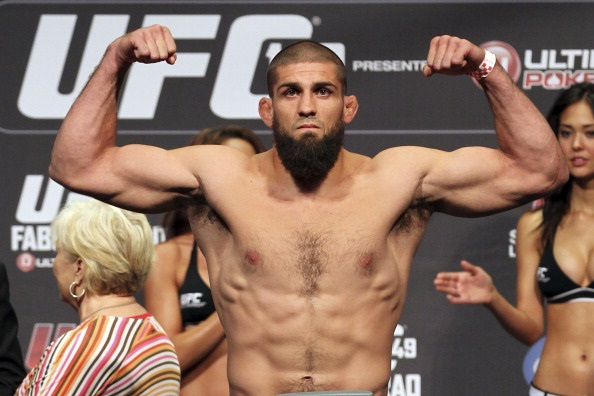 Court McGee at the UFC 149 weigh-in