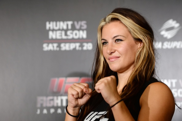 Miesha Tate, UFC women's bantaweight poses for a photograph during a UFC press conference at Akasaka Garden City on August 26, 2014 in Tokyo, Japan. (Photo by Atsushi Tomura/Getty Images)