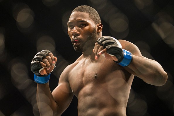 STOCKHOLM, SWEDEN - JANUARY 24: Anthony Johnson of the United States during the UFC Fight Night event at Tele2 Arena on January 24, 2015 in Stockholm, Sweden. (Photo by Michael Campanella/Zuffa LLC/Zuffa LLC via Getty Images)
