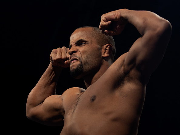 LAS VEGAS, NEVADA - JANUARY 02: Daniel Cormier steps on the scale during the UFC 182 weigh-ins at the MGM Grand Marquee Ballroom on January 2, 2015 in Las Vegas, Nevada. (Photo by Brandon Magnus/Zuffa LLC/Zuffa LLC via Getty Images)