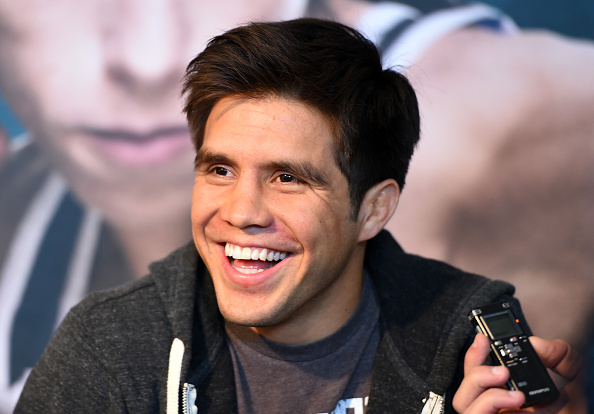 DALLAS, TX - MARCH 12:  Henry Cejudo interacts with media during the UFC 185 <a href='../event/Ultimate-Brazil'>Ultimate </a>Media Day at the American Airlines Center. (Photo by Josh Hedges/Zuffa LLC)