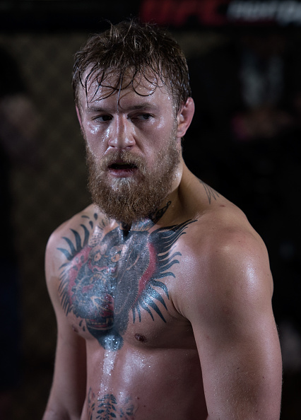 Conor McGregor holds an open workout session for the media at the TUF gym on May 21, 2015 in Las Vegas Nevada. (Photo by Brandon Magnus/Zuffa LLC)