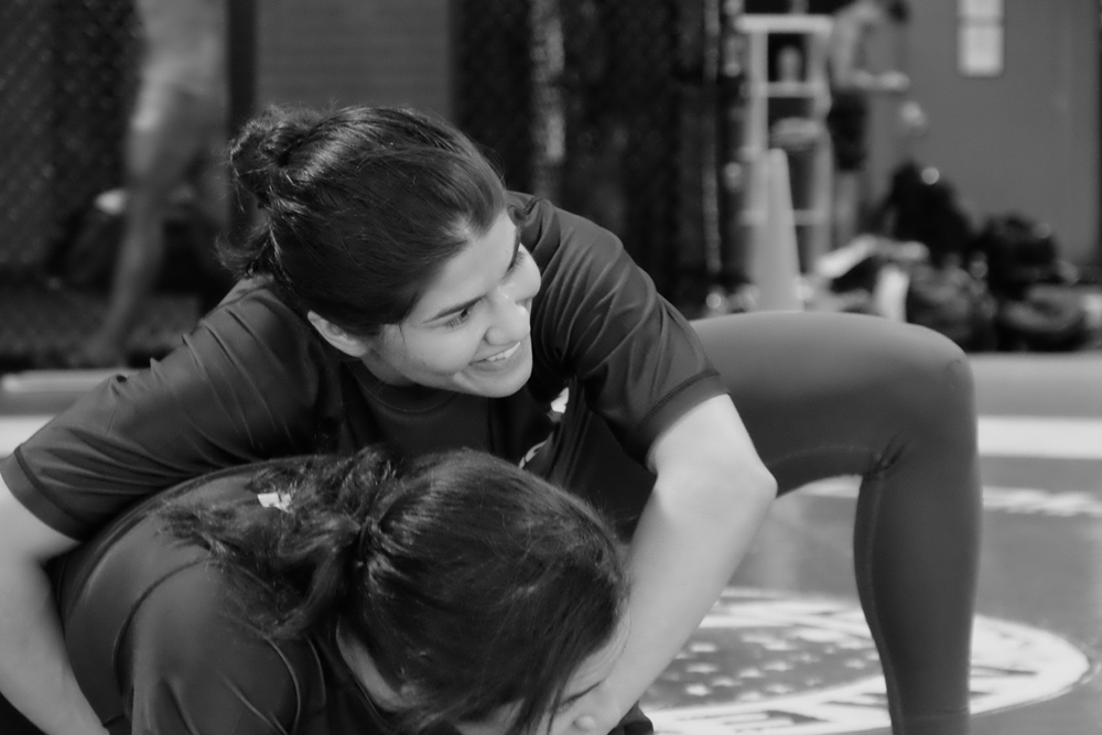 Jessica Aguilar works out with American Top Team in Miami.
