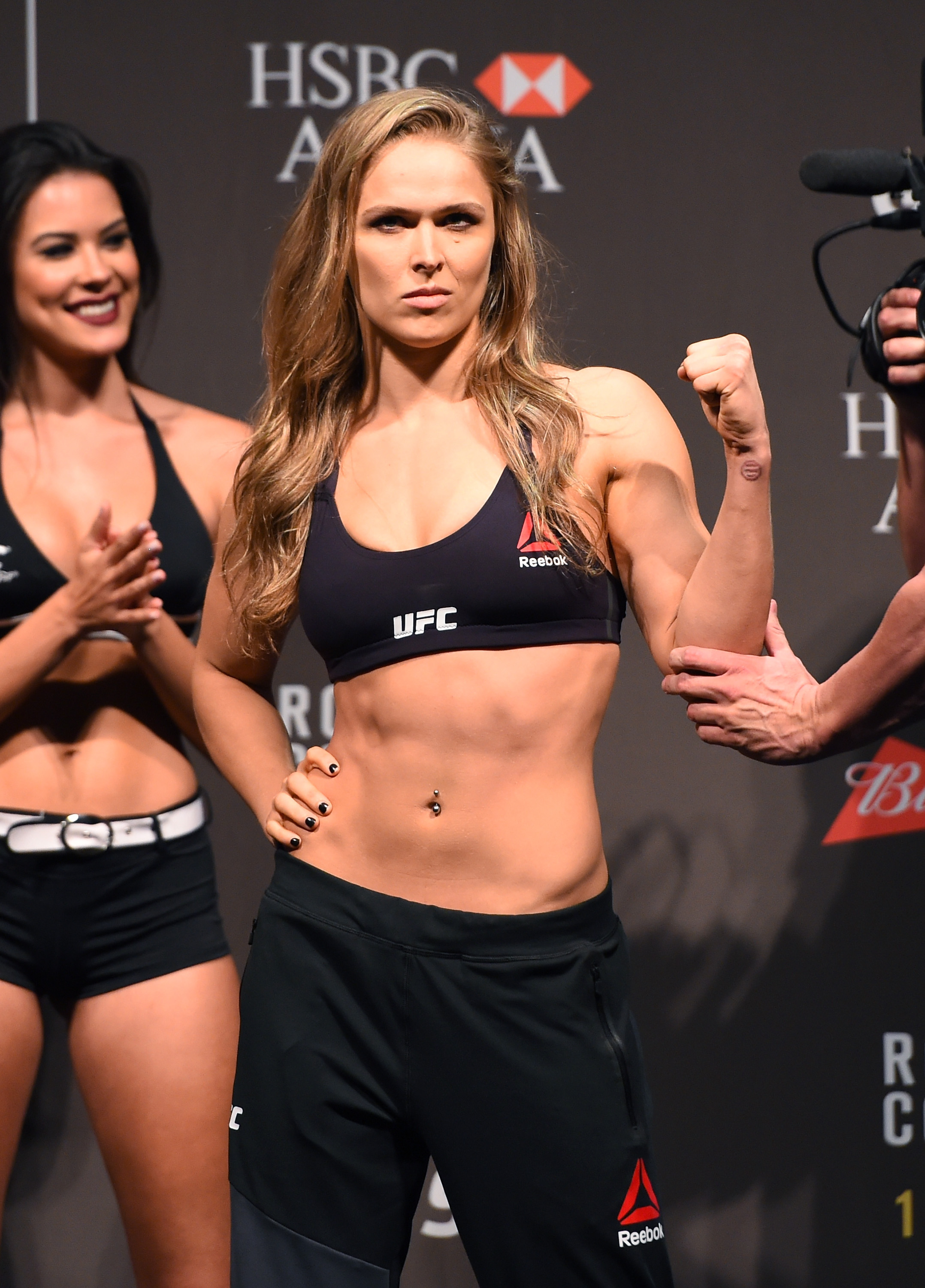 Ronda Rousey shapes up for a fight in Brazil.