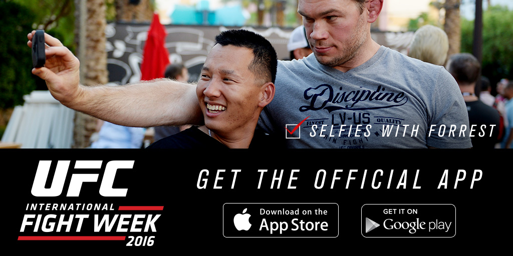 Download the 2016 UFC International Fight Week App in the App Store or on Google Play