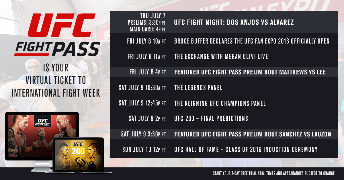 2016 UFC International Fight Week primer Everything you need to know