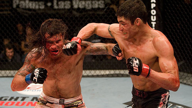 LAS VEGAS - JUNE 20: Diego Sanchez (black shorts) def. <a href='../fighter/Clay-Guida'>Clay Guida</a> (white shorts) - Split Decision during <a href='../event/Ultimate-Fighter-Team-Serra-vs-Team-Hughes-Finale'><a href='../event/The-Ultimate-Fighter-Team-US-vs-Team-UK-FINALE'><a href='../event/The-Ultimate-Fighter-Heavyweights-FINALE'>The Ultimate Fighter </a></a></a>9 Finale at The Pearl at the Palms. (Photo by Josh Hedges/Zuffa LLC)