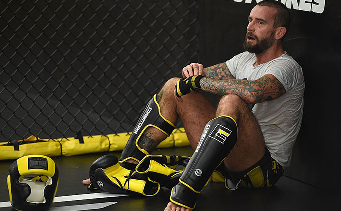 MILWAUKEE, WI - AUG. 29: CM Punk trains at Roufusport Martial Arts Academy. (Photo by Stacy Revere/ Zuffa LLC)