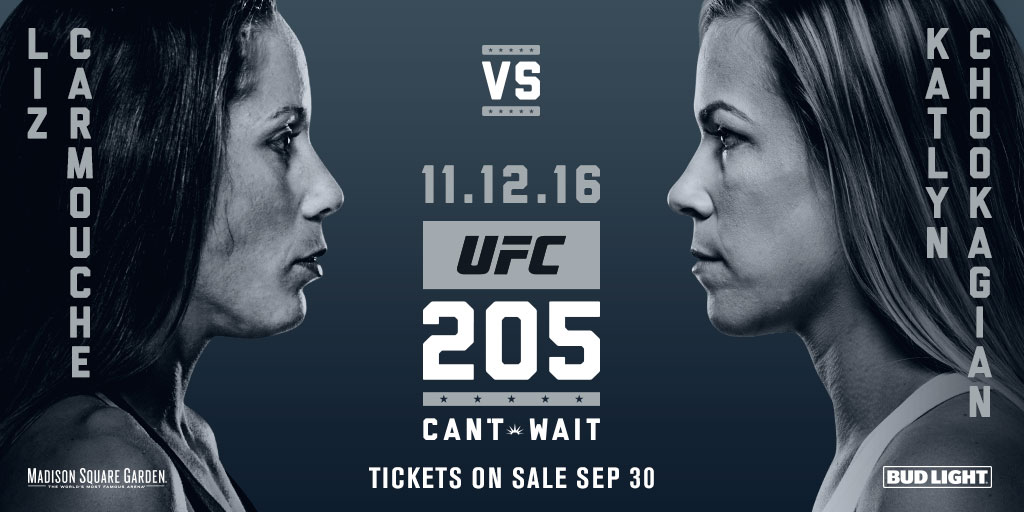 Carmouche and Chookagian will meet in the first bout of the evening at UFC 205