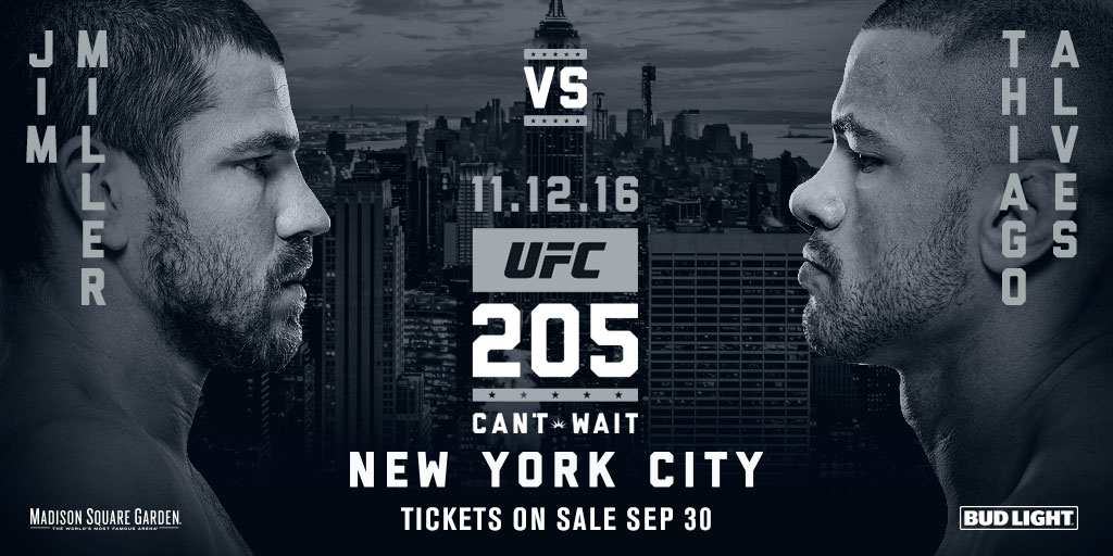 <a href='../fighter/Jim-Miller'>Jim Miller</a> and <a href='../fighter/Thiago-Alves'>Thiago Alves</a> square off as the headlining event of the FIGHT PASS prelims at UFC 205