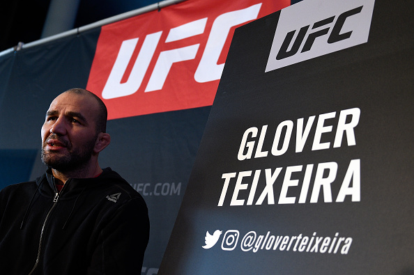 BROOKLYN, NY - FEBRUARY 08: Glover Teixeira of Brazil interacts with the media during the UFC 208 <a href='../event/Ultimate-Brazil'>Ultimate </a>Media Day at the Barclays Center on February 8, 2017 in Brooklyn, New York. (Photo by Jeff Bottari/Zuffa LLC/Zuffa LLC via Getty Images)