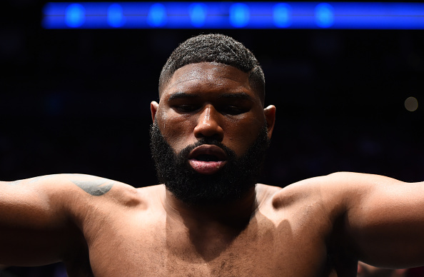 HOUSTON, TX - FEBRUARY 04: Curtis Blaydes prepares to enter the Octagon before facing Adam Milstead in their heavyweight bout during the UFC Fight Night event at the Toyota Center on February 4, 2017 in Houston, Texas. (Photo by Jeff Bottari/Zuffa LLC)