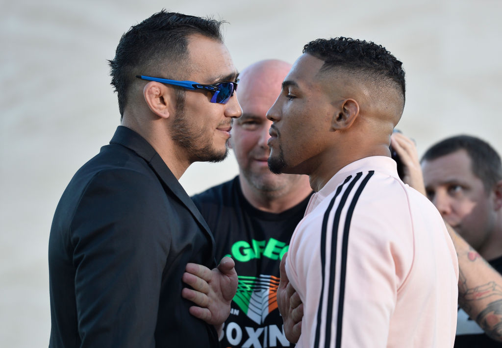 Kevin Lee and Tony Ferguson face-off at a Media Day before UFC 216