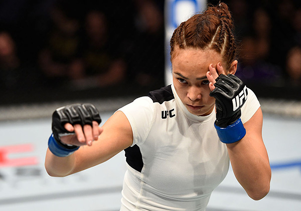 Michelle Waterson at <a href='../event/UFC-Silva-vs-Irvin'>UFC Fight Night </a>Sacramento on December 17, 2016. (Photo by Jeff Bottari/Zuffa LLC/Zuffa LLC via Getty Images)