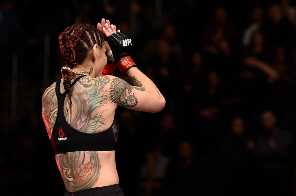 Another Pay-Per-View. Another successful title defense. Another night that ends with Cris Cyborg getting her hand raised, and cements her status as the greatest women's mixed martial artist of all time. (Photo by Jeff Bottari/Zuffa LLC)