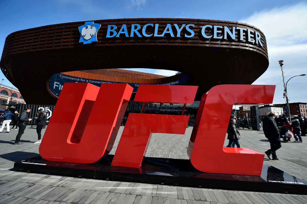 Barclays Center in Brooklyn, New York; the scene of both the magic and the mayhem of UFC 223 fight week. (Photo by Brandon Magnus/Zuffa LLC)