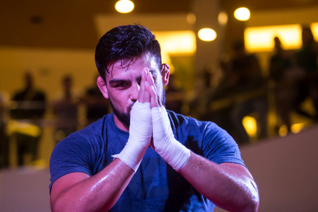 Kelvin Gastelum at UFC 224 open workouts in Brazil.