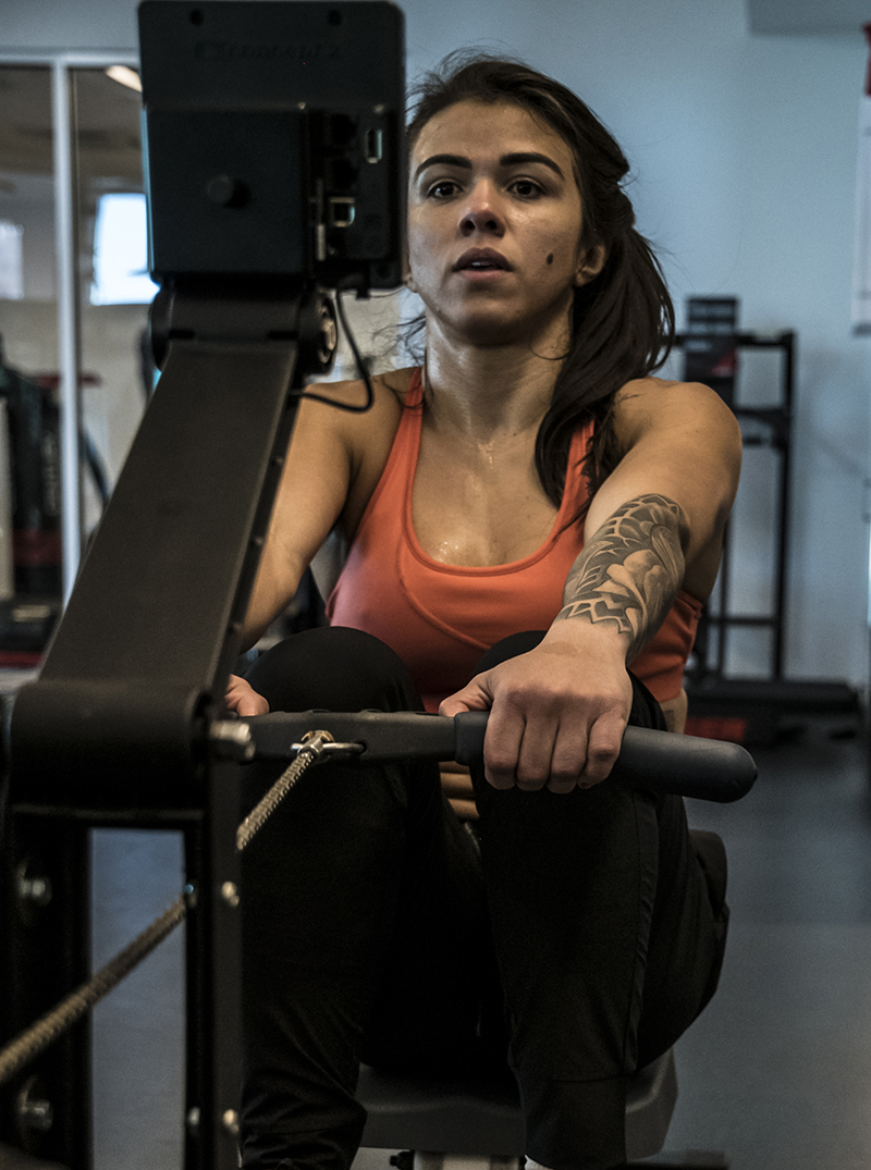 Las Vegas 4/11/18 - UFC fighter Claudia Gadelha at the UFC Performance Institute in las Vegas. (Photo credit: Juan Cardenas)