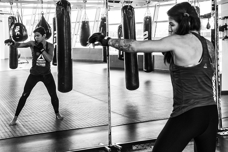Las Vegas 5/10/18 - UFC fighter Claudia Gadelha at the UFC Performance Institute in las Vegas. (Photo credit: Juan Cardenas)
