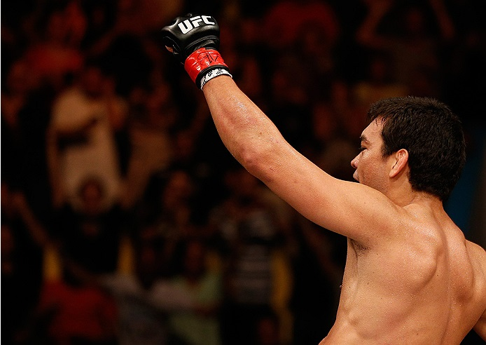 Machida celebrates his knockout victory