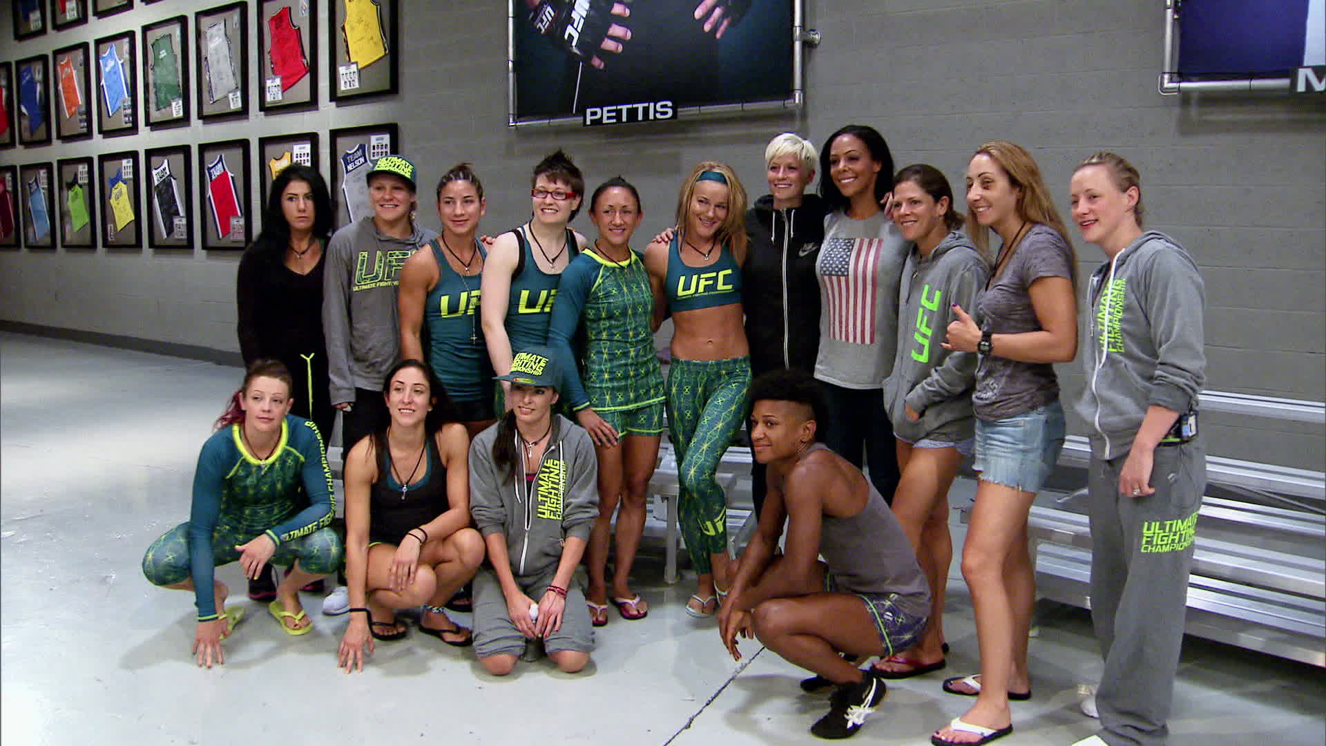 Rapinoe and Leroux with the cast