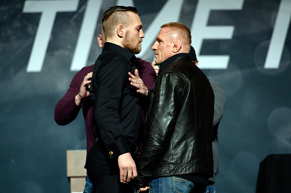 McGregor and Siver face off