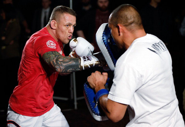 Pearson at the UFC Manchester open workout