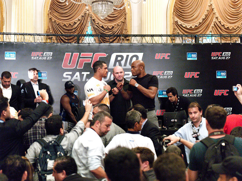 Vitor Belfort and Anderson Silva Face-Off