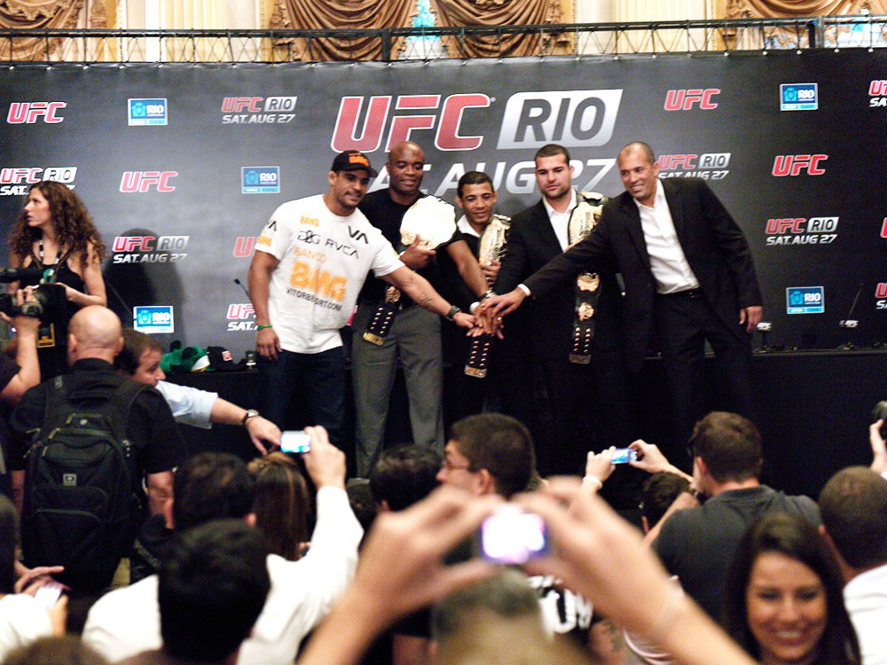 Vitor Belfort, Anderson Silva, Jose Aldo, Shogun Rua &amp; Royce Gracie
