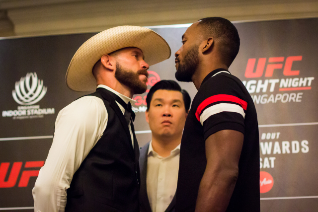 Cerrone faces off with Leon Edwards at Fight Night Singapore's Media Day