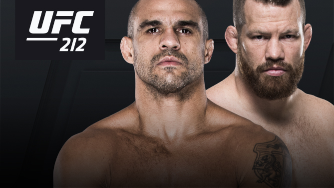 Vitor Belfort returns to Rio de Janeiro for UFC 212 to take on <a href='../fighter/Nate-Marquardt'>Nate Marquardt</a>