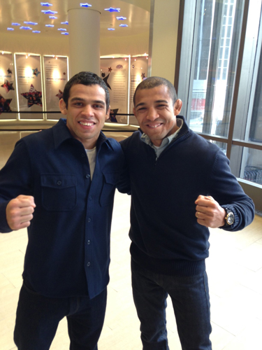 UFC champions Renan Barao and Jose Aldo