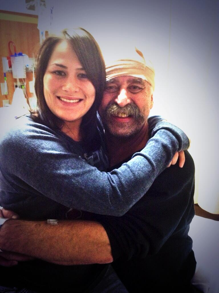 UFC bantamweight Jessica Eye and her father Randy