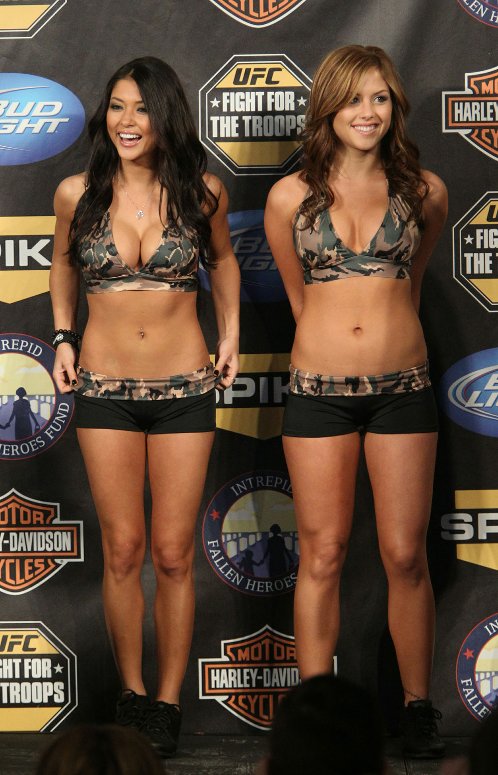 UFC Octagon Girls, Arianny Celeste and Brittney Palmer at the UFC Fight for the Troops.