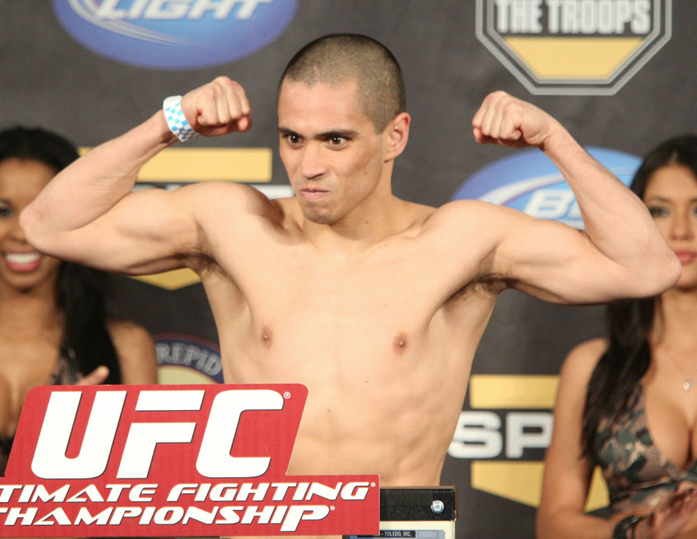 UFC Fight for the Troops Weigh in: Chris Cariaso