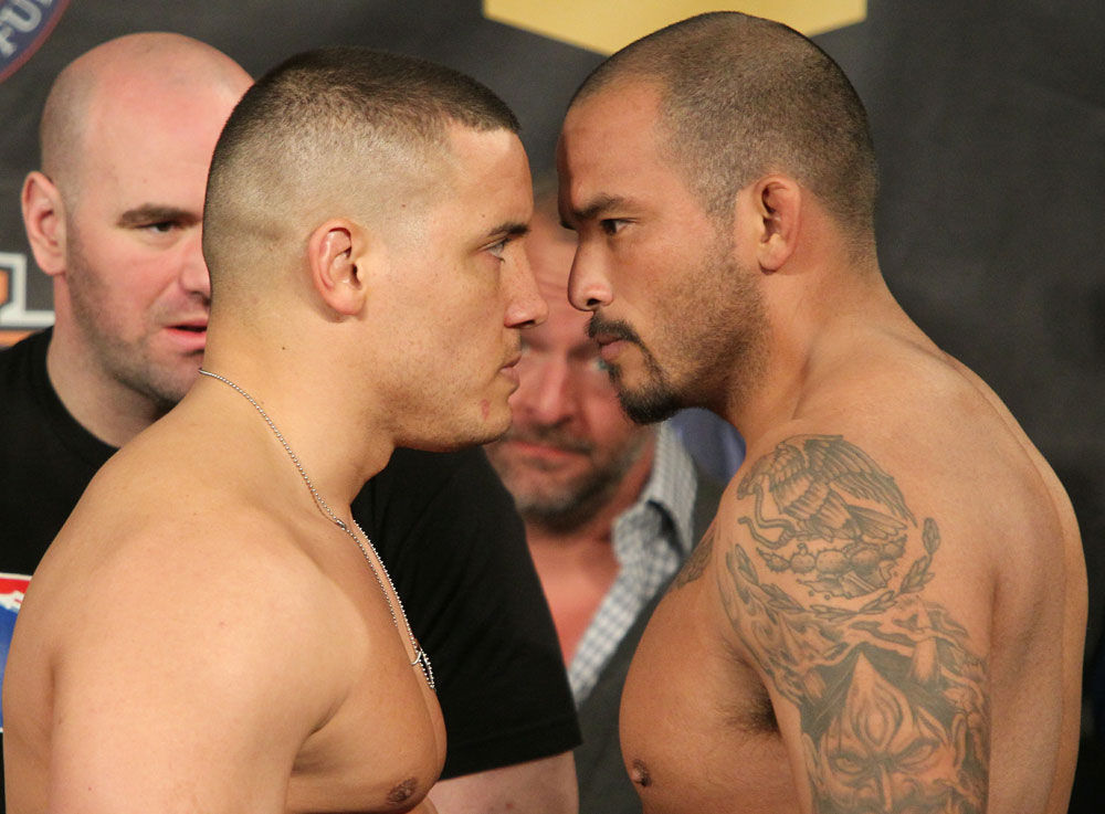 UFC Fight for the Troops Weigh in: Barry vs. Beltran