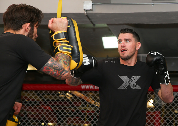NEW YORK, NY - APRIL 15: Chris Camozzi holds an open training session for fans and media at the UFC Gym on April 15, 2015 in New York, New York. (Photo by Ed Mulholland/Zuffa LLC/Zuffa LLC via Getty Images)