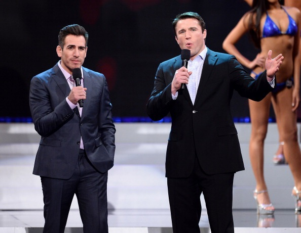 Sonnen and Kenny Florian host swimsuit competition