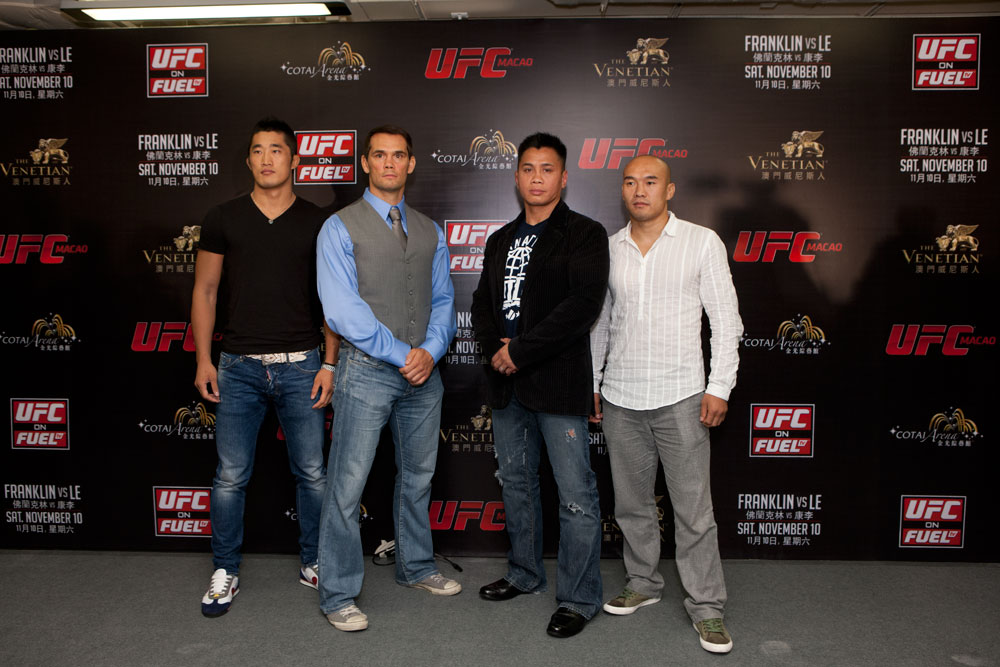 MACAO, CHINA - SEPTEMBER 6: The UFC announces UFC&reg; MACAO: FRANKLIN VS. LE at the CotaiArena&trade; at The Venetian&reg; Macao-Resort-Hotel in Macao on Saturday, November 10 during a press conference held on September 6, 2012 in Macao, China. (Photo by Zuffa LLC)